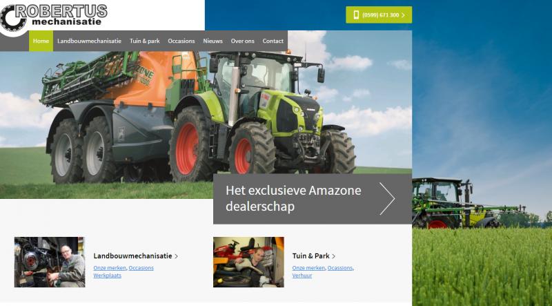 Nieuwe website Robertus Mechanisatie